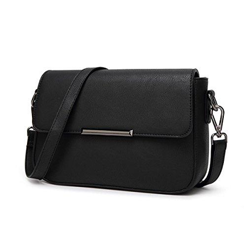 Umhängetasche Diagonales Paket Langer Abschnitt Retro Querschnitt Quadratisch Frauen Mode Der Trend Black