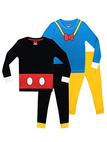 f0ce7f0b5c Disney Pijamas Niños 2 Paquetes Ajuste Ceñido Mickey