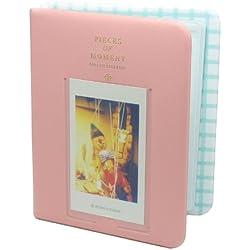 CAIUL Albums Photo spécial pour FujiFilm Instax Mini 7S/8/25/50/90 Pellicule Film(TD7686), Rose