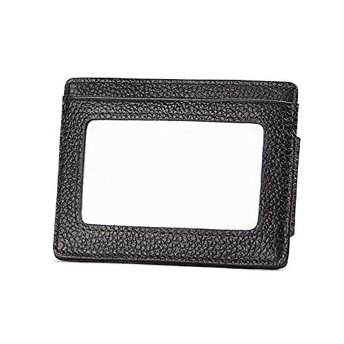 JFSKD Herren- / Damenbrieftasche, Anti-Magnetic RFID Personality-Dollar-Clip, Anti-Scan-Kartenset,Black (Scan-kette)