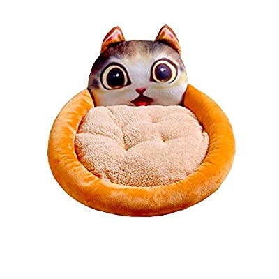 Xingganglengyin Kennel Four Seasons Universal, Cat Litter, Summer Washable, Small Dog Supplies Bed, Summer Bite-resistant Nest, Cat Shape, Round from xingganglengyin