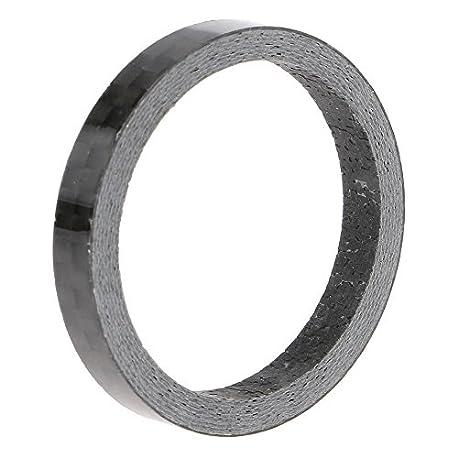 VANKER negro Full de fibra de carbono espaciador tallo 1 1 8 28 6 mm Stem Spacer 5 mm