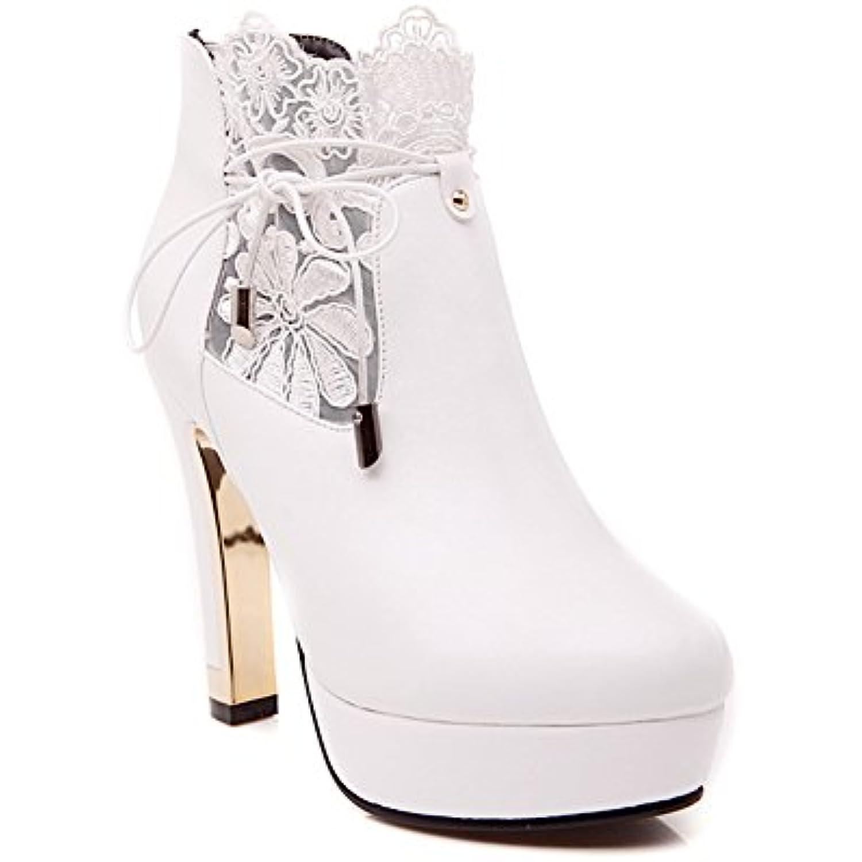 AdeeSu Plateforme Femme Blanc, 35.5 35.5 35.5 EU, SXC02345 - B077ZWWR7Q - fb8c18