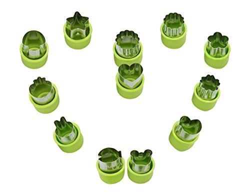 CaLeSi Edelstahl-Ausstechformen Stanzformen-Set, Rutschfest, mit Mini-Form, Ausstecher-Form Ausstecher, für Kinder- und Fisch für die Familie.