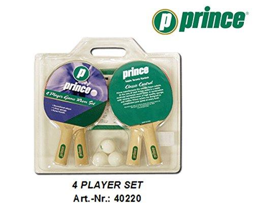 Unbekannt Prince TT 4 Spieler Tischtennis Set 4 Schläger 1,0mm Netz 3 Bälle -