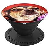 Chihuahua Puppy Dog Niedliches Portraitbild Hunde Geschenk - PopSockets Ausziehbarer Sockel und Griff für Smartphones und Tablets