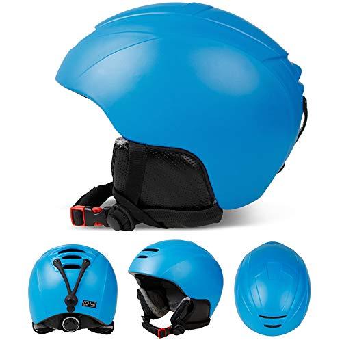 MENUDOWN Snowboard Skihelm Sicherheit Einstückig Geformt Atmungsaktiver Helm Herren Damen Skating Skateboard Skihelm,Blue-M(52~55CM)
