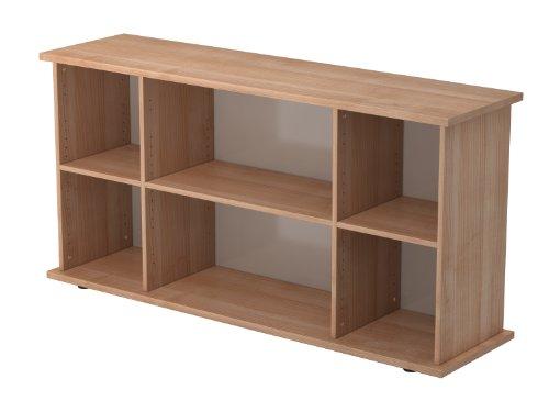 Bümö® Sideboard | Aktenregal mit Stauraum für Ordner, Bücher und Material | Büromöbel | in 5 Dekoren (Nussbaum)