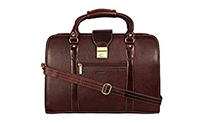 """SCHARF Monte Berlin- The Whole Nine Fence Genuine Leather 15.6"""" Expandable Laptop CarryCase AMB53BR"""