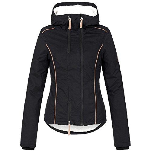 Azuonda Damen Winterjacke Parka Jacke warm Teddyfell Kapuze XS-XL AZ25, Farbe:Schwarz, Größe:XS / 34 - 2