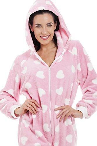 Camille Erwachsener und Kind Herz alles in einem Onesie Pyjama 46/48 PINK - 5