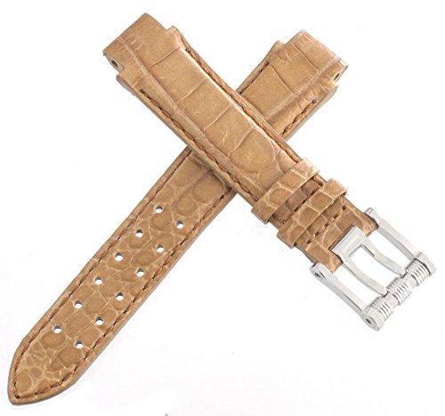 aquanautic Herren Braun Alligator Leder Uhrenarmband mit Stahl Schnalle 13mm