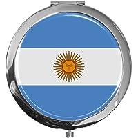 """metALUm - Extragroße Pillendose in runder Form""""Flagge Argentinien"""" preisvergleich bei billige-tabletten.eu"""