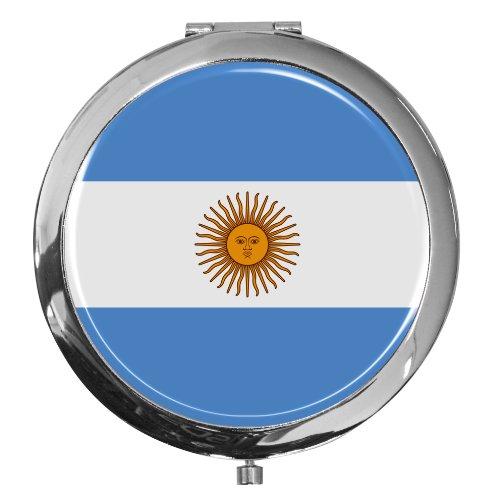 Miroir de poche / Drapeau l'Argentine / Double agrandissement