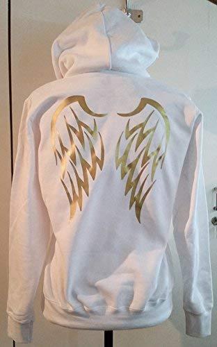 Damen Hoodie mit Print Flügel Engel