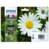 Epson Multipack 18 4 colores (etiqueta RF) - Cartucho de tinta para impresoras (Negro, Cian, Magenta, Amarillo, Estándar, Epson - XP-30 / XP-102 / XP-202 / XP-205 / XP-302 / XP-305 / XP-402 / XP-405, Inyección de tinta, Ampolla, 192 x 141,75 x 45 mm)