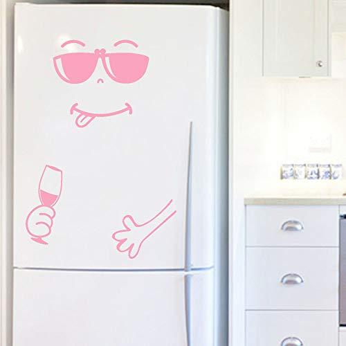 Mitlfuny Black Friay DE Cyber Monday DE,Cute Sticker Fridge Happy Delicious Face Kitchen Fridge Wall Stickers Art