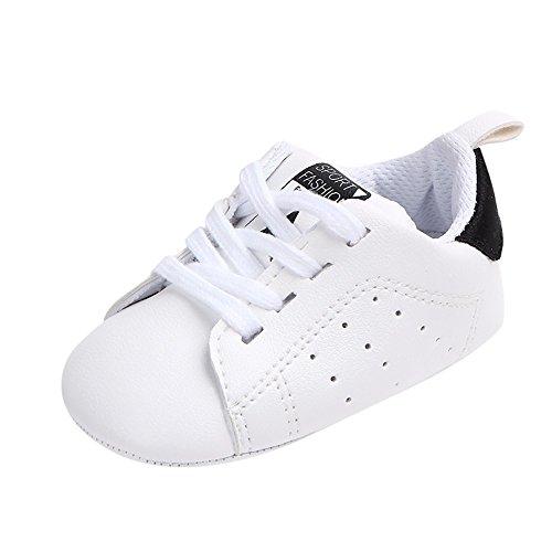 Amlaiworld_Primeros pasos Zapatos de Bebé, Zapatillas para Infantil Recién Niñas Niños 0-18 Mes (Tamaño:12-18Mes, B Negro)