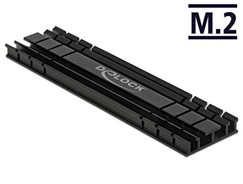 DeLOCK Kühlkörper flach 100 mm für M.2 Modul, schwarz