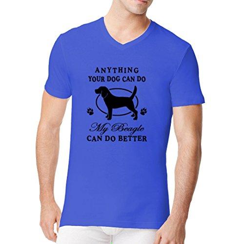 Im-Shirt - Anything your dog can do Beagle cooles Fun Men V-Neck - verschiedene Farben Royal