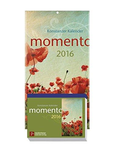momento 2016 - Konstanzer Kalender: Abreißkalender - Block mit 384 Blättern und Rückwand, zum Aufstellen oder Aufhängen