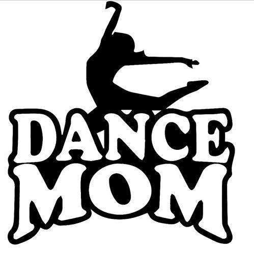 Zybnb 21,3 Cm * 22,9 Cm Dance Mom Auto Auto Lkw Stoßfänger Fenster Sport Auto Aufkleber Reflektierende Vinyl Styling Schwarz Weiß-3Stk (Moms Halloween Dance)