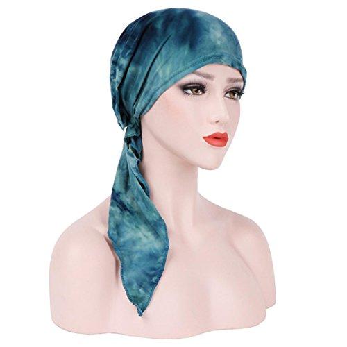 Chapeau rétro, YUYOUG Femmes Inde Musulman Stretch Turban Chapeau Tie-dye Coton Perte De Cheveux Tête Écharpe Wrap