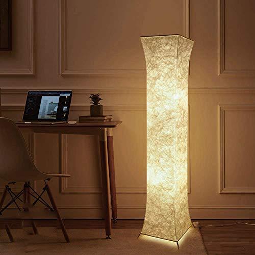 Moderne Stehlampe mit Stoff-Shades, Fy-Licht 52-Zoll-zeitgenössischen Design Standing LED Stehlampe für Wohnzimmer, Schlafzimmer, Haus, Büro (Square Twist Fabric(UK Plug))