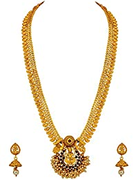 Atasi International Gold Plated Jewellery Sets for Women (Golden) (AG3004)