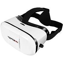 Tepoinn Casque VR Lunettes 3D Réalité Virtuelle Lunette Virtuelle Le Plus Léger pour 3D Films et Jeux Compatibles avec iPhone X 8 7 6 et Autres Smartphones sous Android 4.0 à 6