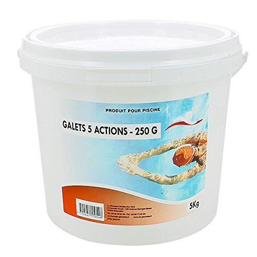 Chlore 5 actions galets 250 g - 5 kg de marque Swimmer - Catégorie Produits chimiques