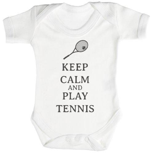 TRS - Calm Play Tennis regalo para bebé, body para bebé niño, body