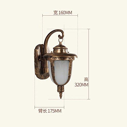 XHOPOS HOME Appliques lampes Style européen retro piscine imperméable Cour Intérieure lampe créatif éclairage extérieur 160x320mm Gold