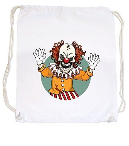 Evil Clown Gym White Certified Freak (Zirkus Freak Kostüme)