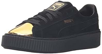 Puma Schuhe Suede Platform Gold W goldpuma black 38,5