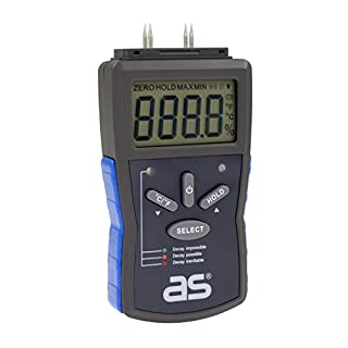 as – Schwabe 24103 Moisture, Humidity Measuring, Damp Meter Tester Detector for Walls, firewood, Paper, Blue