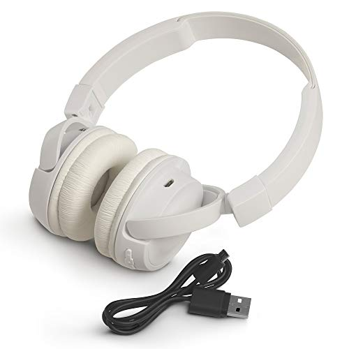 JBL T460BT Extra Bass Wireless On-Ear Headphones with Mic (White) Image 5