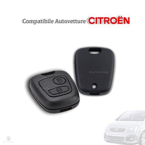 Smartechnology - Coque de clé auto/télécommande - Citroën C1 C2 C3 C5 Xsara Saxo Berlingo Picasso - Deux boutons