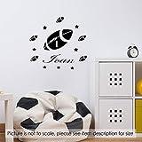 Rugby Ball Wandkunst Aufkleber personalisierte Namen Jungen Kinderzimmer abnehmbare Vinyl Aufkleber