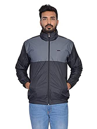 Walk Alone Waterproof/Resistance Nylon Full Sleeve Jacket with Hooded for Men's