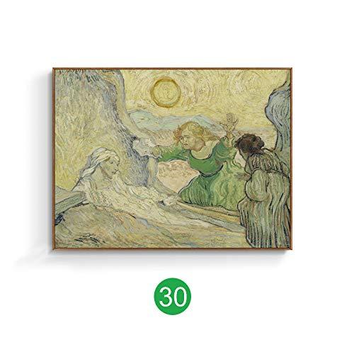mmwin Van Gogh weltberühmten Gemälde europäischen dekorative Malerei Tusche Gemälde Landschaft Ölgemälde Wohnzimmer amerikanische Wandbild K 70x50cm