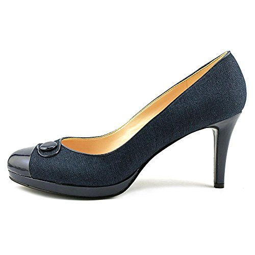 Nine West 7 Agne Damen Rund Synthetik Plateauschuh Navy/Nav