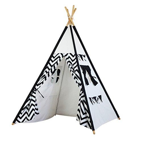 Home experience- Prinz oder Prinzessin Sommer Zimmer Kinder spielen Zelt Haus Indoor Kinder Spielzeug Spielhaus Strand Sonne indische Tipi Jungen Mädchen (120 × 120 × 145 cm)