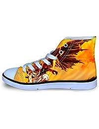 YGHJGOO Fairy Tail Zapatos Personalizar Adecuado for niños y niñas Zapatos Planos Lacing Zapatos del Ocio del Alto-Top Calzado niños y niñas