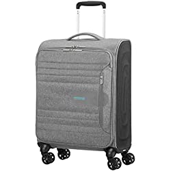 American Tourister Sonicsurfer - Spinner 55/20 Equipaje de Mano, 55 cm, 40 Liters, Gris (Metal Grey)