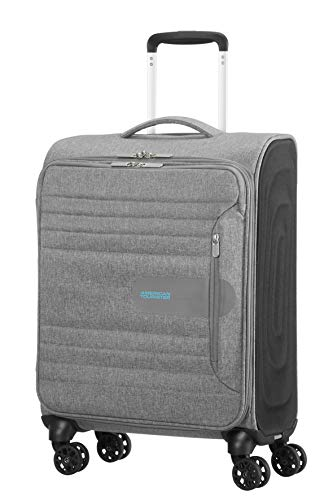 American Tourister Sonicsurfer - Spinner 55/20 Equipaje de mano, 55 cm, 40 l, Gris (Metal Grey)