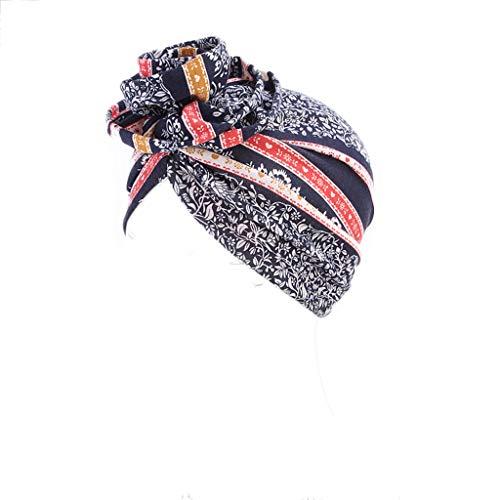 Lunji Turban Femme Mode Bonnet Chimio Coton Bandana Cheveux (7#)