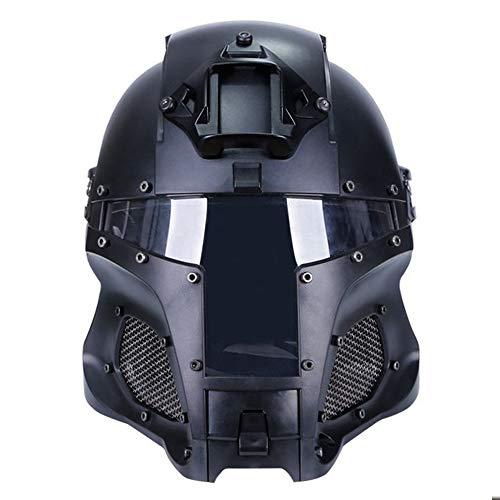 Taktischer Helm, ABS-Mehrzweck-Sport-Schutz-Airsoft-Paintball mit Gesichtsmaske und Brille Militärische ballistische Seitenschiene NVG-Transfer-Basis-Armee-Kampf-Airsoft-Paintball-Gesichtsmaske
