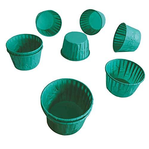 CHIRORO 60pcs Muffin Papier Cupcake Förmchen Fällen Liner Muffin Hohe Temperaturbeständige Backen Tassen für Muffins und Cupcakes,Grün - Blumen Cupcake-liner