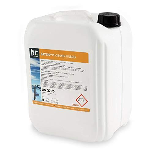 Höfer Chemie 14 kg pH Senker flüssig Senkung des pH Werts im Pool - DAS ORIGINAL für einen optimalen pH Wert und TOP Wasserqualität im Pool - Säure-auge